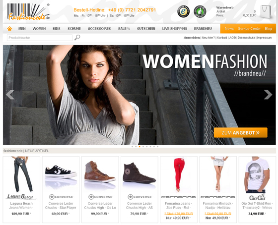 Shoprelaunch 2.0 - Fashioncode.de