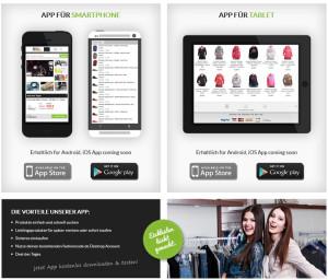 Apps bei Fashioncode.de