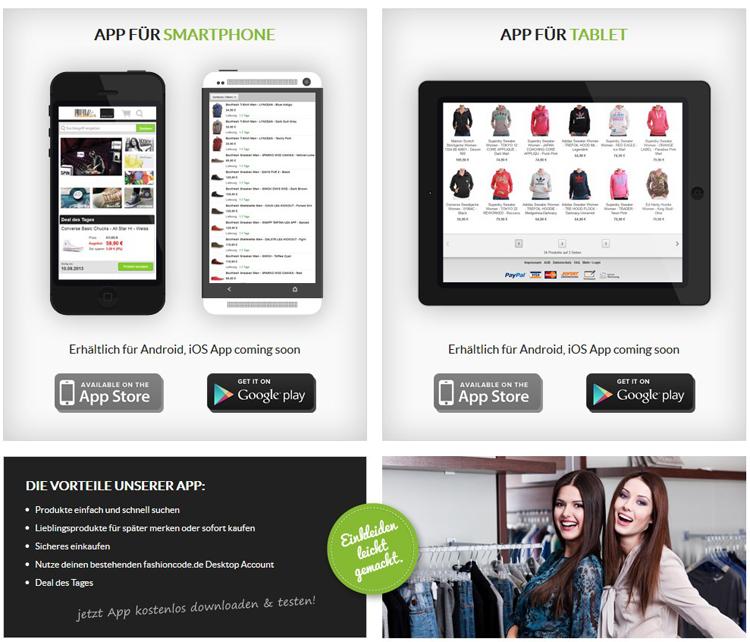 Fashioncode.de App ready | Smartphones & Tablets aufgepasst!
